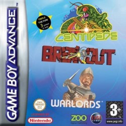 3 Games in 1 Centipede Breakout Warlords